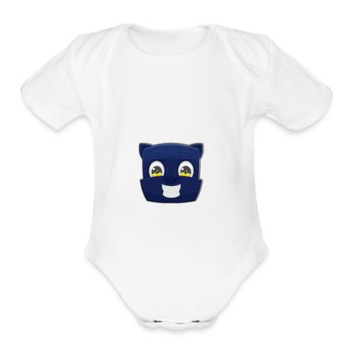 Dynamic panther - Organic Short Sleeve Baby Bodysuit