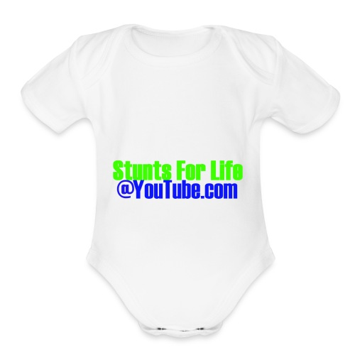 stunts for life - Organic Short Sleeve Baby Bodysuit
