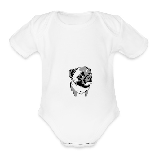 BreezyPug - Organic Short Sleeve Baby Bodysuit