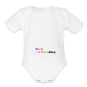 ImTrending///Logo - Short Sleeve Baby Bodysuit