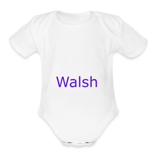 walsh - Organic Short Sleeve Baby Bodysuit
