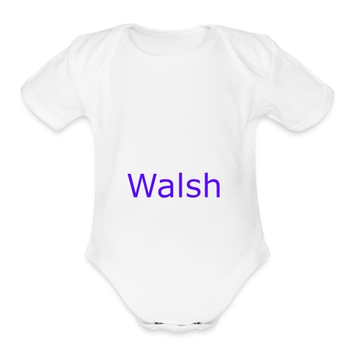 walsh - Organic Short Sleeve Baby Bodysuit