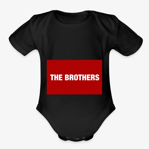 The Brothers - Organic Short Sleeve Baby Bodysuit