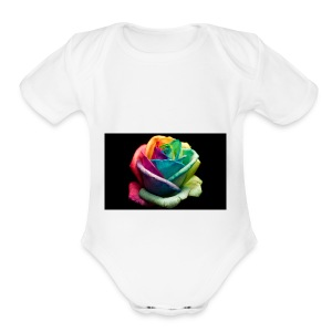 Colorful Rose Wallpapers 1 - Short Sleeve Baby Bodysuit