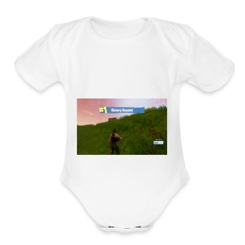 Fortnite dubs - Organic Short Sleeve Baby Bodysuit