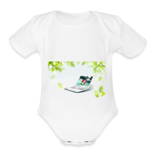 Digital World 63 - Organic Short Sleeve Baby Bodysuit