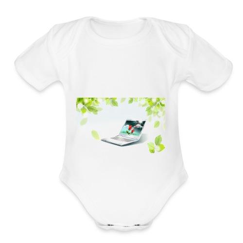 Digital World 63 - Organic Short Sleeve Baby Bodysuit