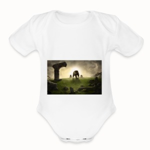 king bear with cubs merchandise - Short Sleeve Baby Bodysuit
