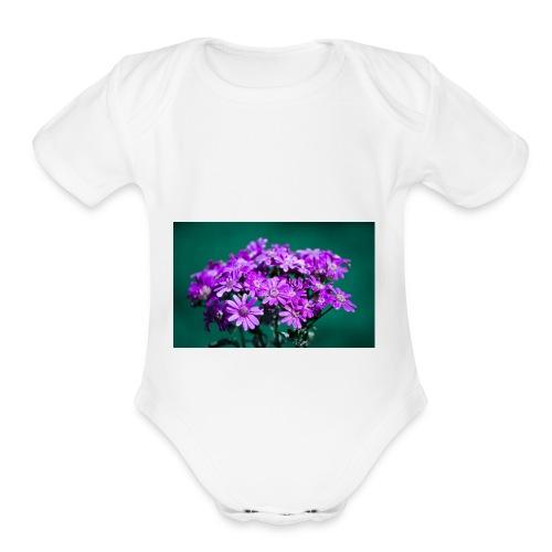 flows - Organic Short Sleeve Baby Bodysuit
