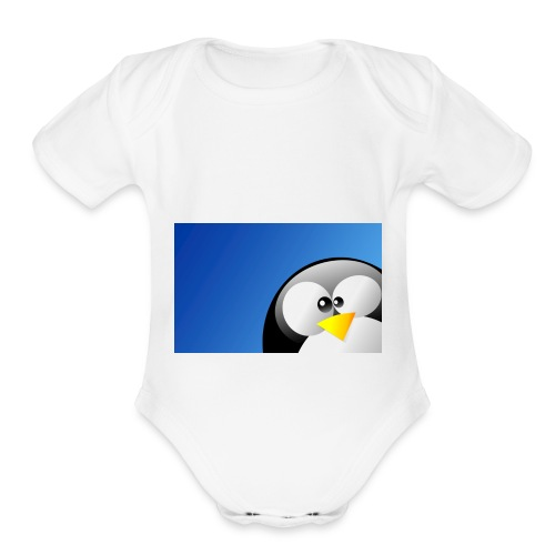 Penguin Shirt Shop Kids Men Woman - Organic Short Sleeve Baby Bodysuit