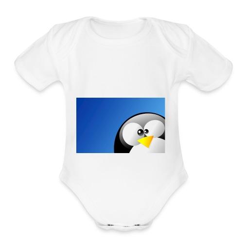 Penguin Shirt Shop Kids Men Woman - Organic Short Sleeve Baby Bodysuit