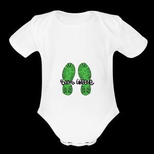 bootswriting - Short Sleeve Baby Bodysuit