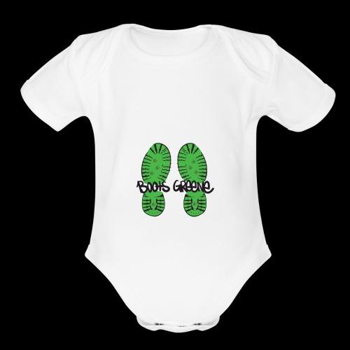 bootswriting - Organic Short Sleeve Baby Bodysuit