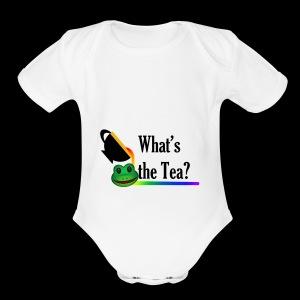 WHAT'S THE TEA? - Short Sleeve Baby Bodysuit