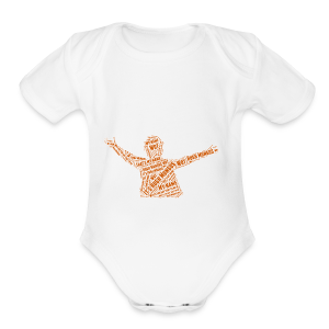 Hugh Mungus Wordcloud - Short Sleeve Baby Bodysuit