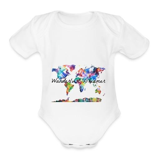Wanderlust Dreamer - Organic Short Sleeve Baby Bodysuit