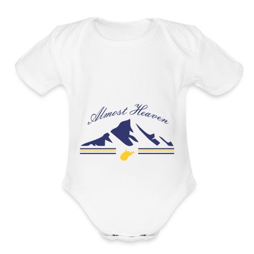 Almost Heaven - Organic Short Sleeve Baby Bodysuit