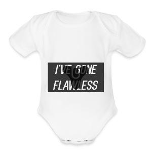 ive_gon_flawless_logo - Short Sleeve Baby Bodysuit