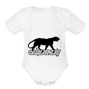 Camouflow Panther Logo - Short Sleeve Baby Bodysuit