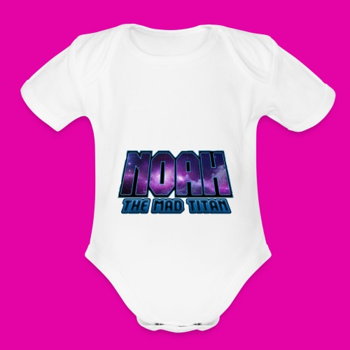Noah The Mad Titan - Organic Short Sleeve Baby Bodysuit