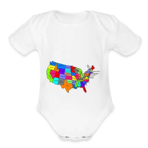 USA - Organic Short Sleeve Baby Bodysuit