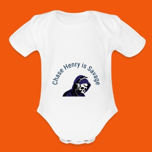Chase Henry is Savage - Short Sleeve Baby Bodysuit