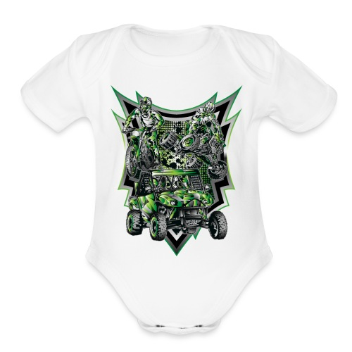 Extreme Life Style Green - Organic Short Sleeve Baby Bodysuit