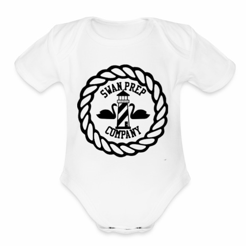 Swan Prep Badge Classic Design - Organic Short Sleeve Baby Bodysuit