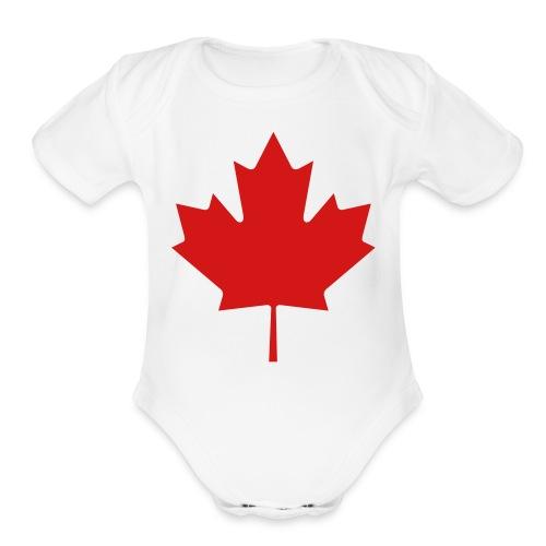 umar playz tee - Organic Short Sleeve Baby Bodysuit