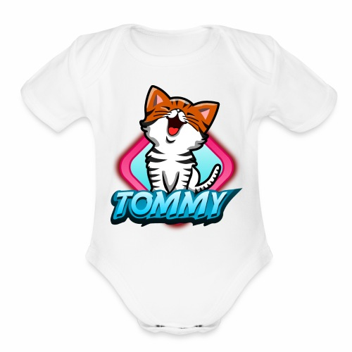 Tommy the Cat - Organic Short Sleeve Baby Bodysuit