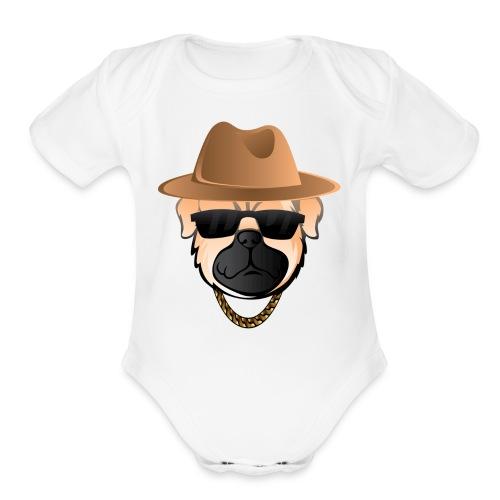 Classic Pug - Organic Short Sleeve Baby Bodysuit