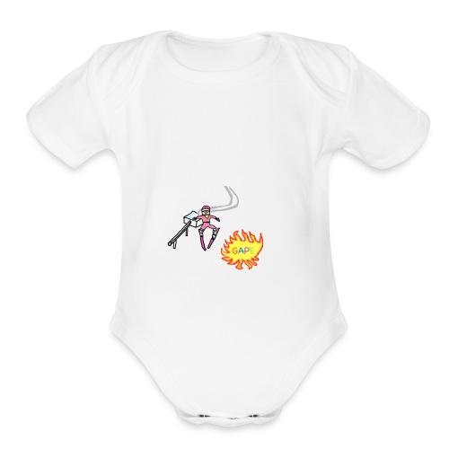 Gape Hoodie - Organic Short Sleeve Baby Bodysuit