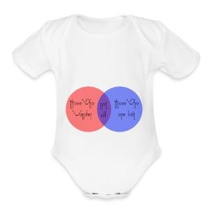 wander venn - Short Sleeve Baby Bodysuit