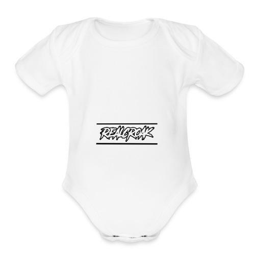 2nd - Organic Short Sleeve Baby Bodysuit
