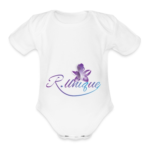 R. Unique LLC - Organic Short Sleeve Baby Bodysuit
