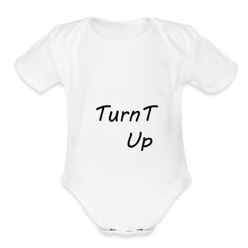 TurnT_Up - Organic Short Sleeve Baby Bodysuit