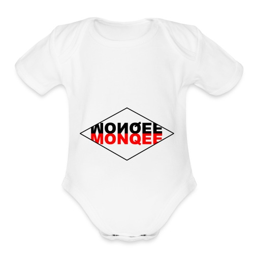 BLACK AND RED - Organic Short Sleeve Baby Bodysuit