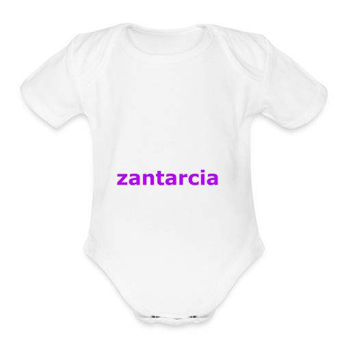zantarcian merch - Organic Short Sleeve Baby Bodysuit