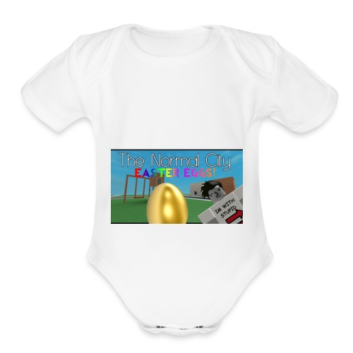 Roblox Easter Egg Hunt Shirt - Organic Short Sleeve Baby Bodysuit