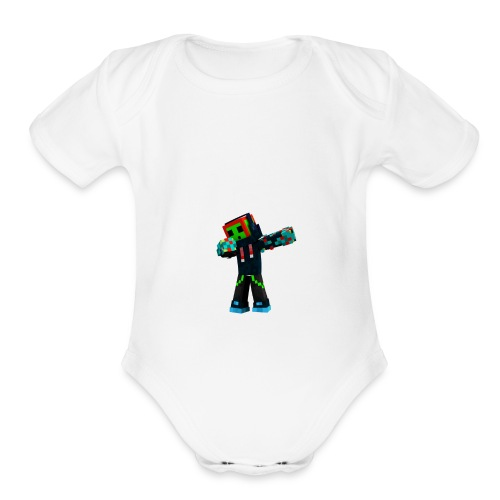 Dabbing Trexx - Organic Short Sleeve Baby Bodysuit