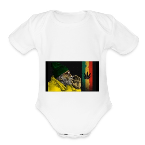 weed everyday - Organic Short Sleeve Baby Bodysuit