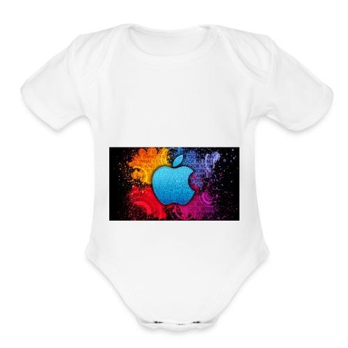 apple - Organic Short Sleeve Baby Bodysuit