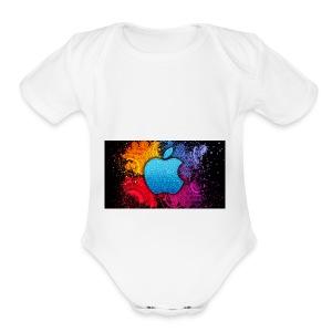 apple - Short Sleeve Baby Bodysuit