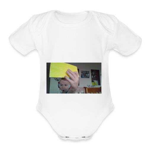 the paper golden shirt - Organic Short Sleeve Baby Bodysuit