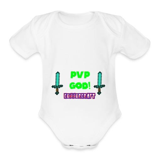ConnorCraft Design #1 - Organic Short Sleeve Baby Bodysuit