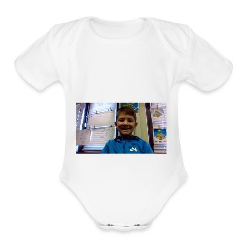 Nate - Organic Short Sleeve Baby Bodysuit