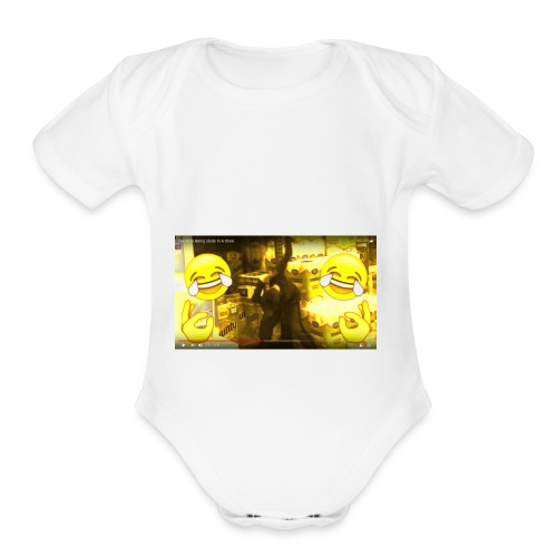 From Uncle Andy's Vlogs but Made Into JD Merch - Organic Short Sleeve Baby Bodysuit