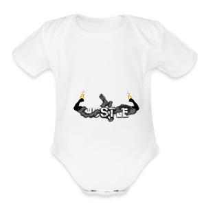 HUSTLE 1 - Short Sleeve Baby Bodysuit