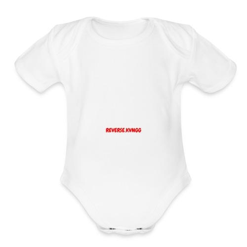 REVERSE KVNGG 1 - Organic Short Sleeve Baby Bodysuit