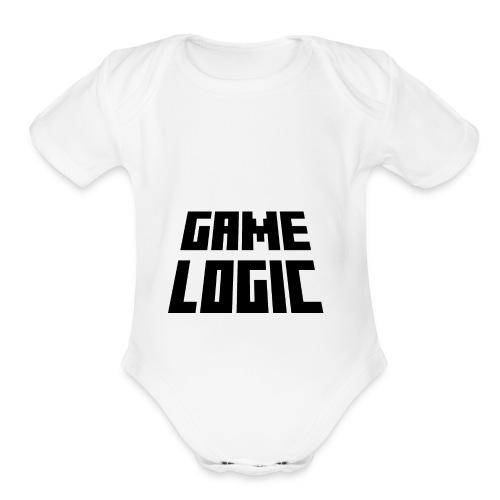 Game Logic Logo - Organic Short Sleeve Baby Bodysuit